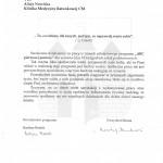 Podziękowania nr 2 od prezydenta Bydgoszczy.